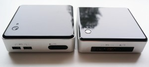 Haswell and Broadwell NUC side-by-side, front