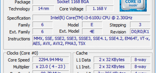 CPU ID for Skylake NUC