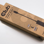 The adapter is delivered in a box made of recycled paper.