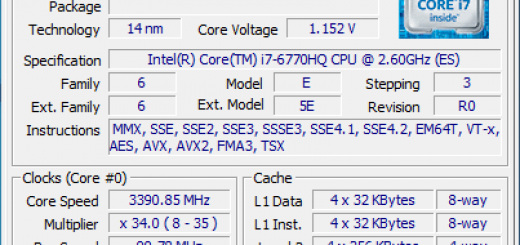 NUC6i7KYK CPU ID