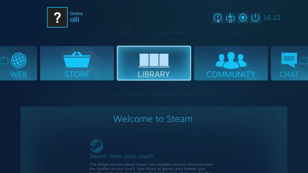 Steam's Big Picture mode