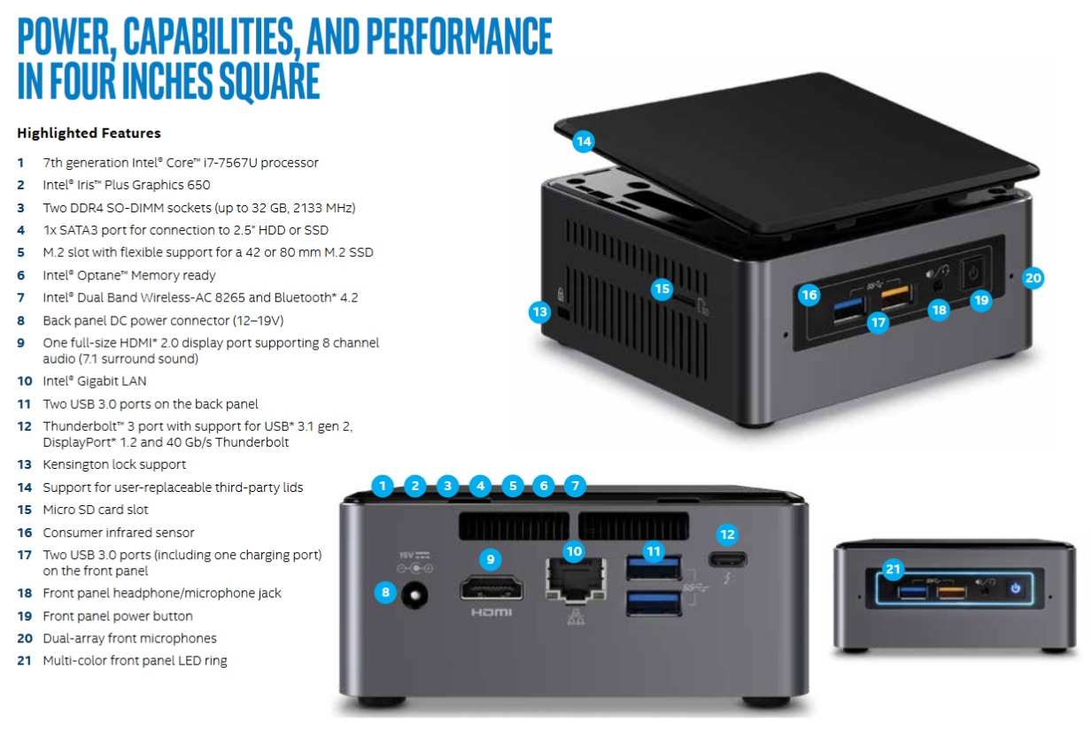 Intel Releases the Kaby Lake NUC Full Specifications – The