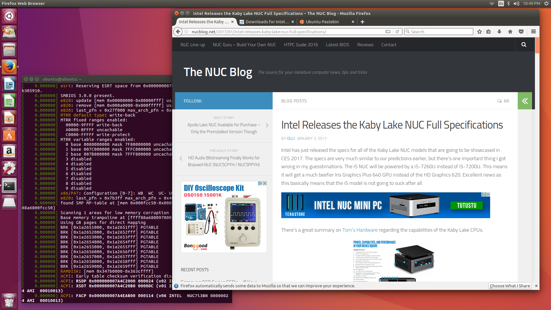 The i3 Kaby Lake NUC Review (NUC7i3BNH) – Linux, HTPC