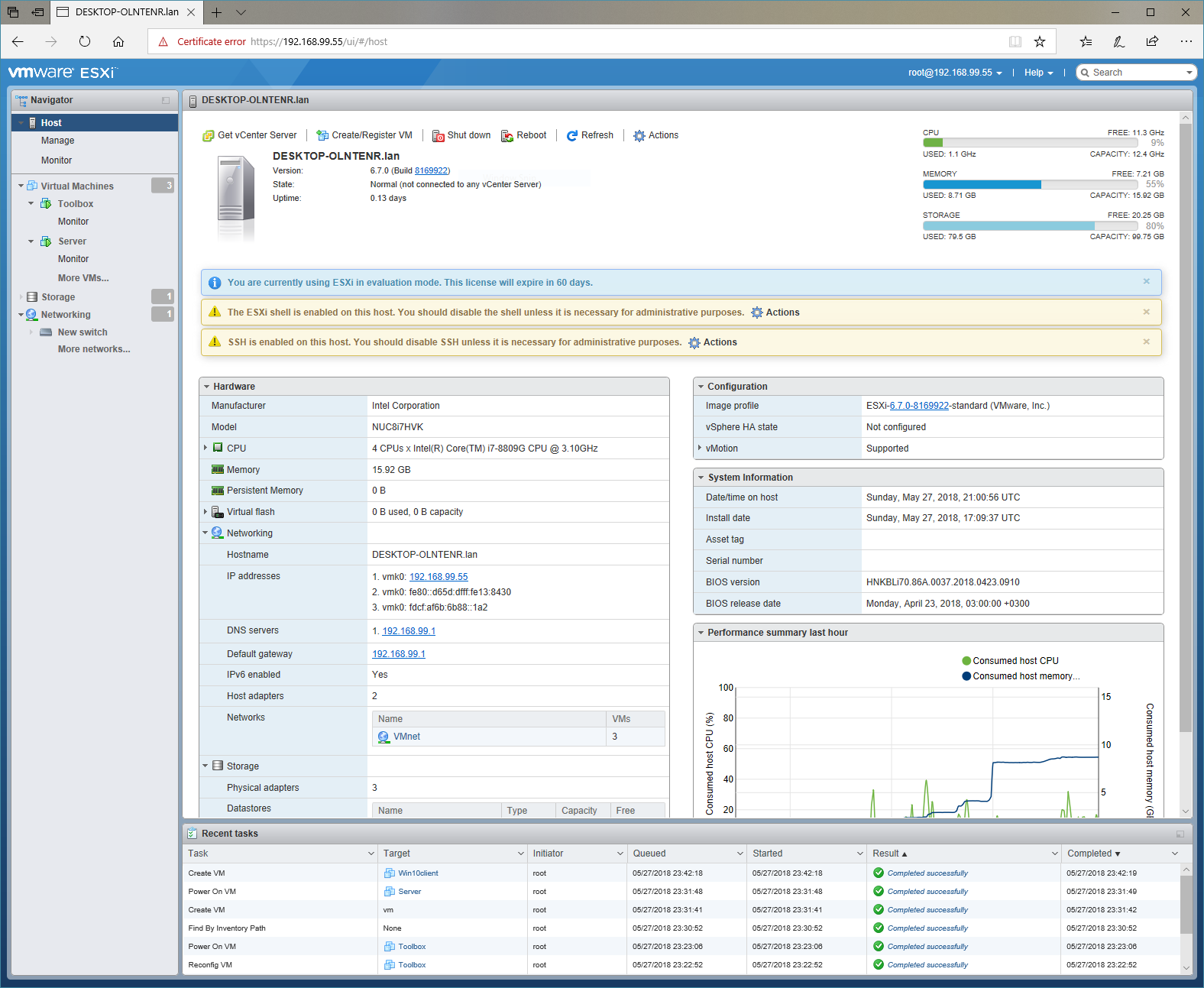 Installing VMware ESXi 6 7 0 on a Hades Canyon NUC – The NUC
